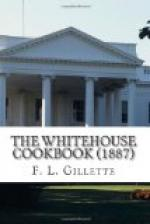 The Whitehouse Cookbook (1887) by