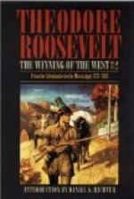 The Winning of the West, Volume 2 by Theodore Roosevelt