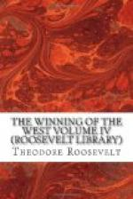 The Winning of the West, Volume 4 by Theodore Roosevelt