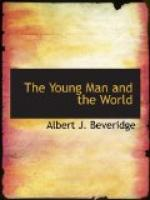 The Young Man and the World by Albert J. Beveridge