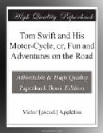Tom Swift and His Motor-Cycle, or, Fun and Adventures on the Road by Victor Appleton