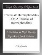 Tractus de Hermaphrodites by Giles Jacob