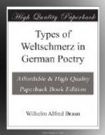 Types of Weltschmerz in German Poetry by