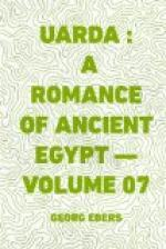 Uarda : a Romance of Ancient Egypt — Volume 07 by Georg Ebers