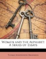 Women and the Alphabet by Thomas Wentworth Higginson