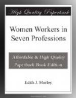 Women Workers in Seven Professions by