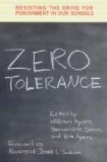 Zero tolerance (schools) by