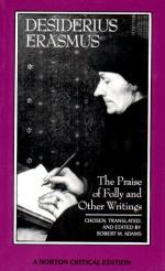 Critical Essay by C. A. Patrides by Desiderius Erasmus