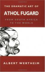 Critical Essay by Athol Fugard by