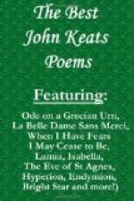 Critical Essay by Irene H. Chayers by John Keats