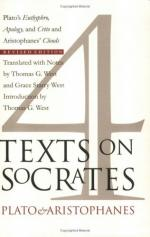 Four Texts on Socrates: Plato's Euthyphro, Apology, and Crito and Aristophanes' Clouds by Thomas G. West