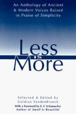 Less Is More: The Art of Voluntary Poverty: An Anthology of Ancient and... by Goldian VandenBroeck