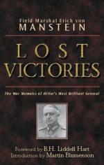 Lost Victories by Erich von Manstein