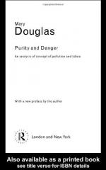 Purity and Danger: An Analysis of Concepts of Pollution and Taboo by Mary Douglas