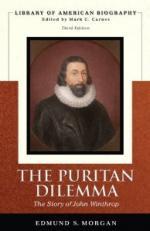 The Puritan Dilemma; the Story of John Winthrop by Edmund Morgan