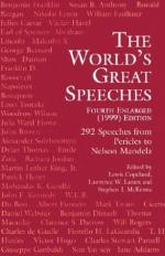 The World's Great Speeches by Lewis Copeland